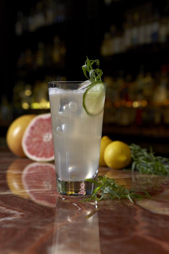 Dragoncellarussian standard, velvet falernum, grapefruit juice, tarragon syrup, lemon juice