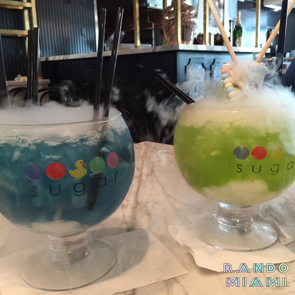 Ocean Blue & Lollipop Passion Goblets