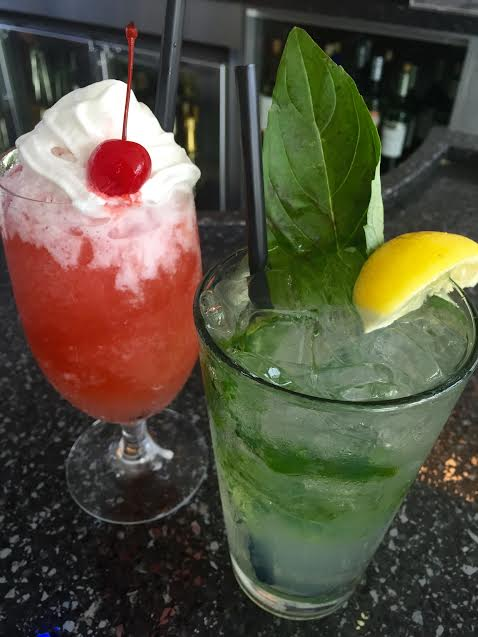 Strawberry daiquiri& Twisted lemonade