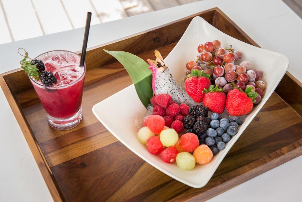Delano Beach Club Black Sunset & Frozen Fruit Plate