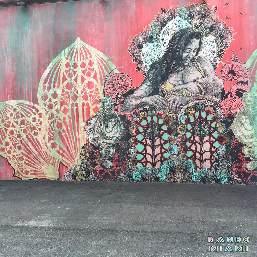 Wynwood Walls - Artist Swoon from Brooklyn, NY