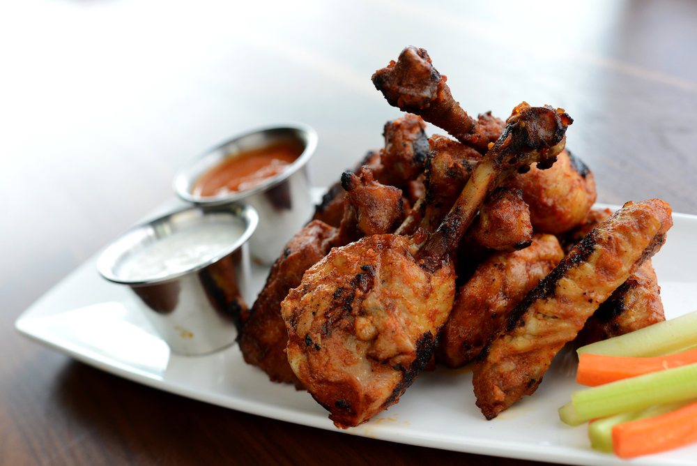Photo courtesy of: Frankey's Sports Bar (Organic Buffalo Style Chicken Wings)