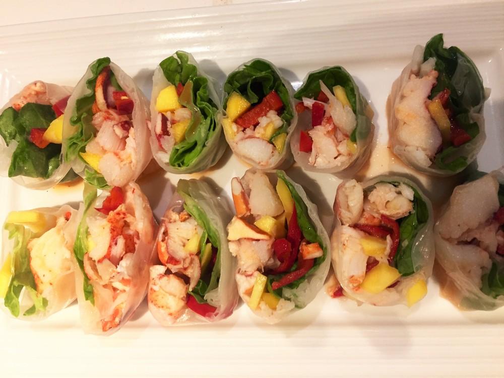 Lobster Summer Rolls