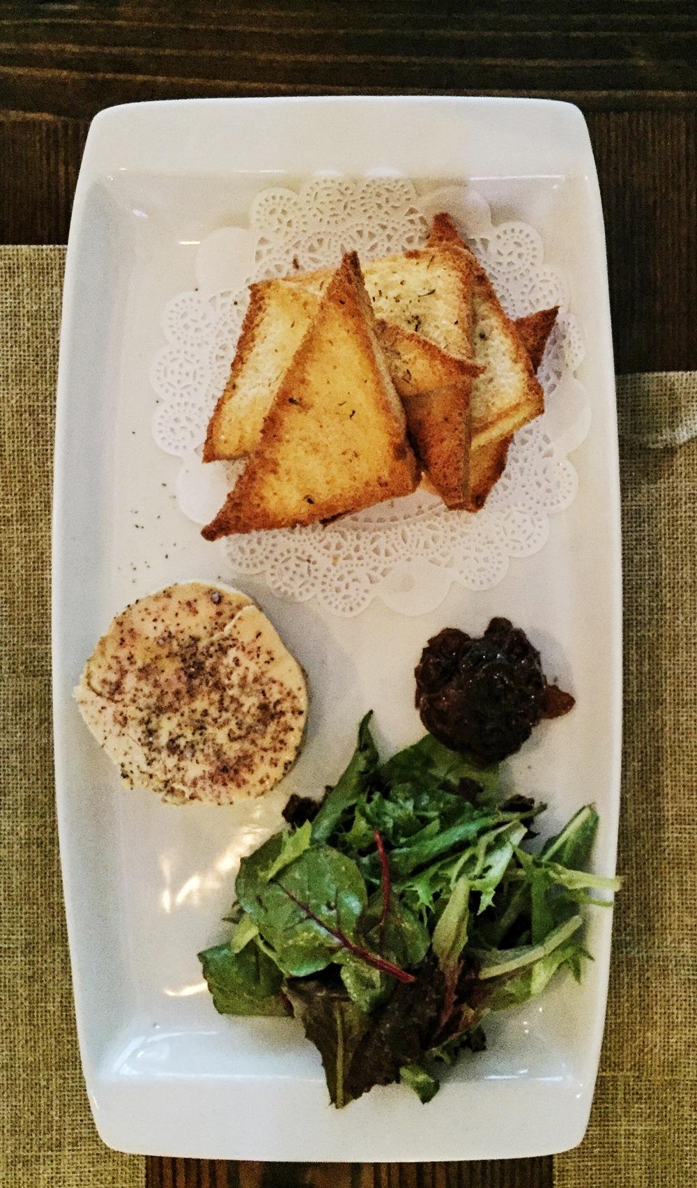 Foie Gras Maison – homemade duck fois gras, onion jam, toasted brioche