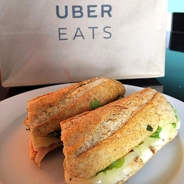 Today I tried @ubereats for the first time, and in less than 30 minutes I had my delicious sandwich from @thecheesecourse! #UberEATS for the win! (download app via link in bio)