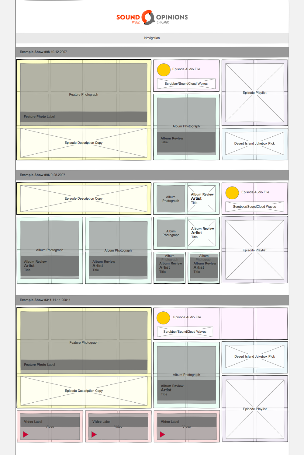 Wireframe (Home page)