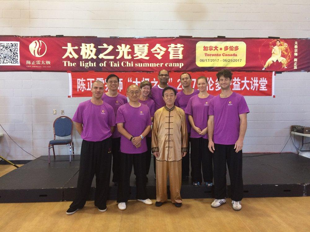 Greenville Tai chi group with Grandmaster Chen zhenglei in 2017 light of tai chi at toronto
