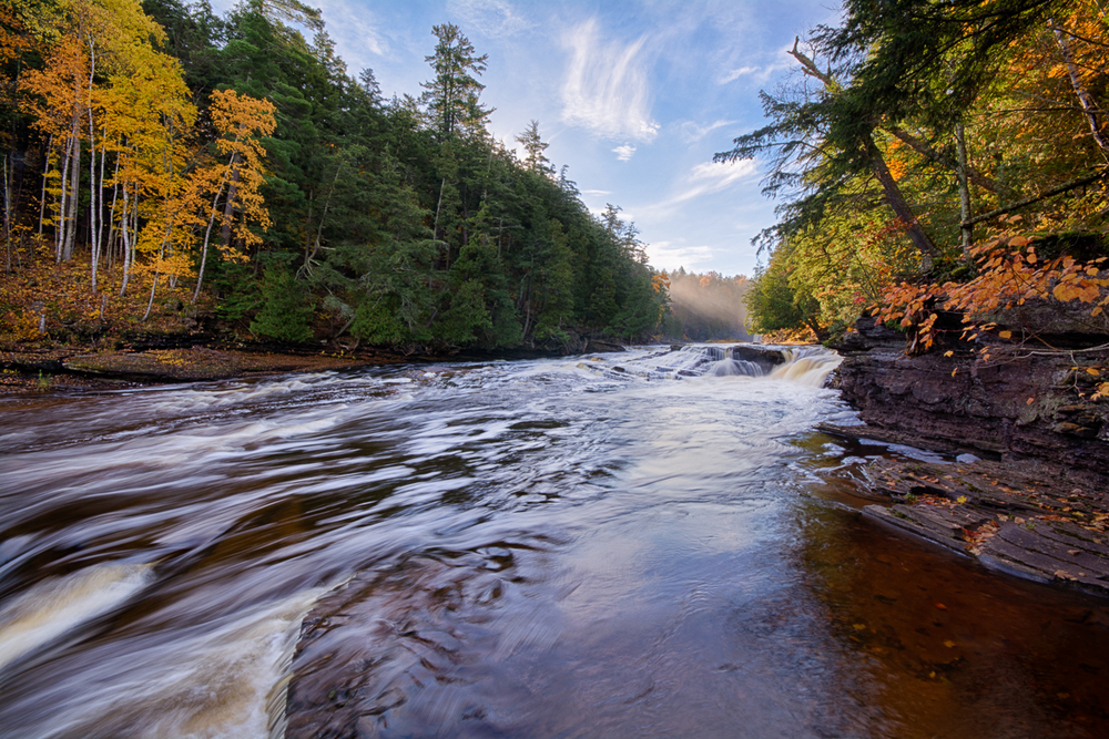 Fall at Presque Isle River. Porcupine Mountains State Park. October 2014.