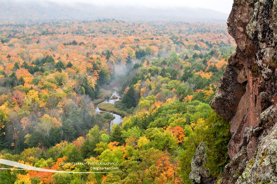 © Craig Sterken |  Facebook  |  Website   Craig Sterken rappelled down the side of a cliff to create this photo of the Carp River in the Porcupine Mountains! (I may have lied about the rappelling thing..) Check out Craig's '  Photographer Profile' here.