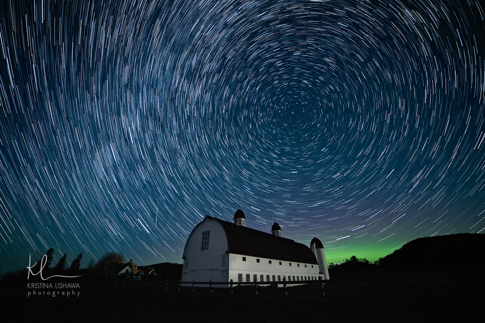 Star Trails Over D.H. Day Barn