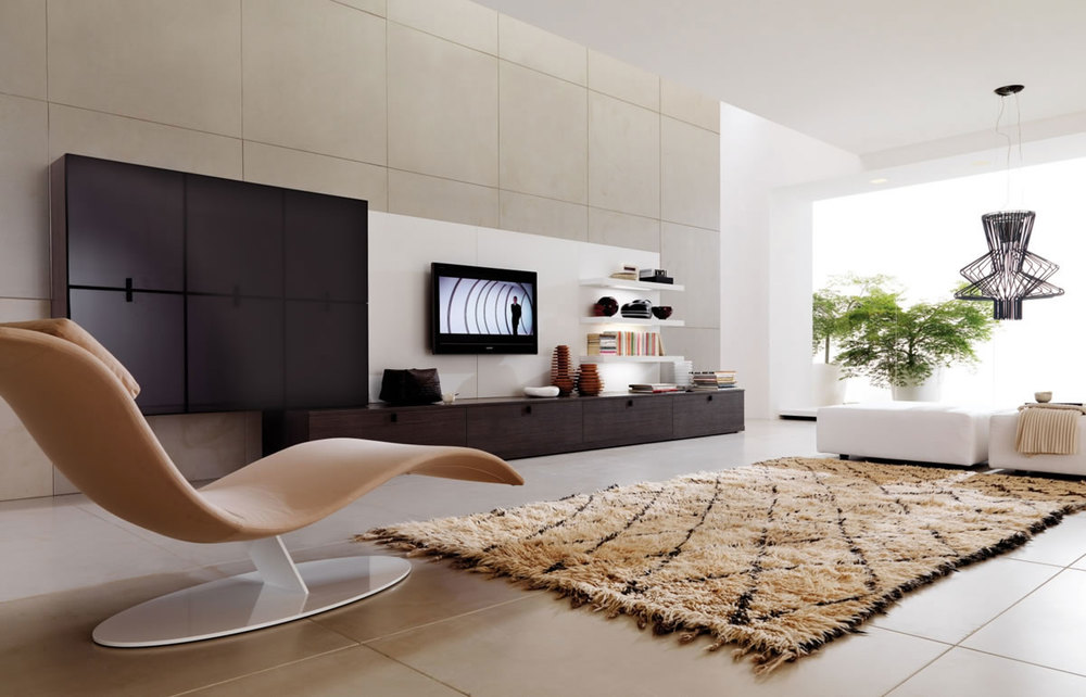 Affordable-Interior-Design-Miami-Modern-Penthouse-Design-Warm-Modern-Living Room-Design