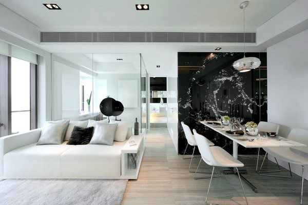 Modern White Interior Design steal that style: 'miami modern' - 5 penthouse  interiors