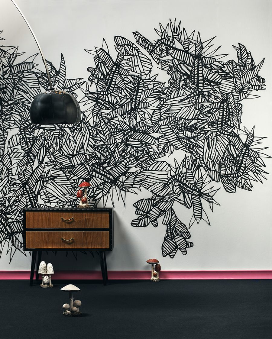 Abstract Cold Song Wall Mural By Martin Bergström. Part 22
