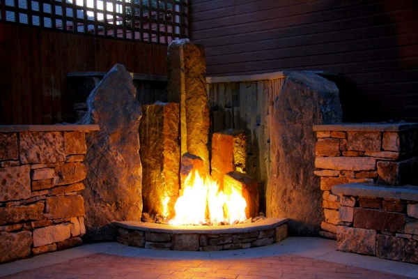 Fire pit as decoration