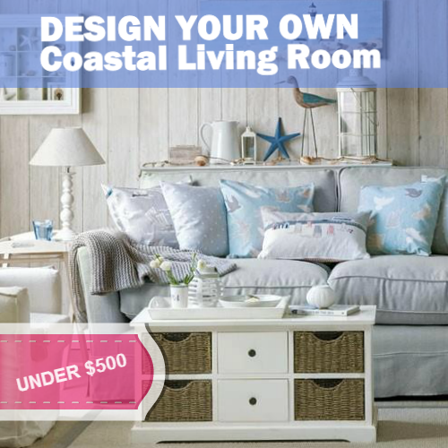Ordinaire How To Create A Coastal Interior Designed Living Room: Under $500