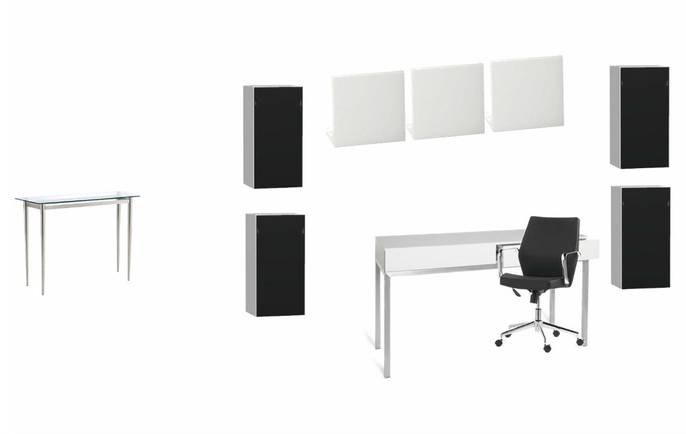 Office Configuration (From entry console on the shallow west wall, to how the storage units will be displayed)