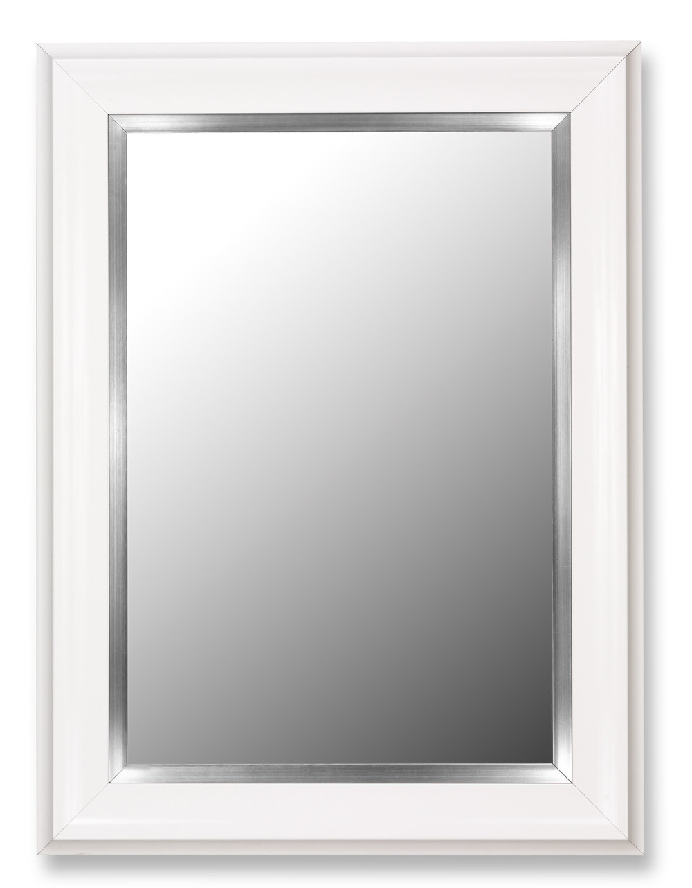 White Framed Mirror 39 H x 78 W - $730 Need 1