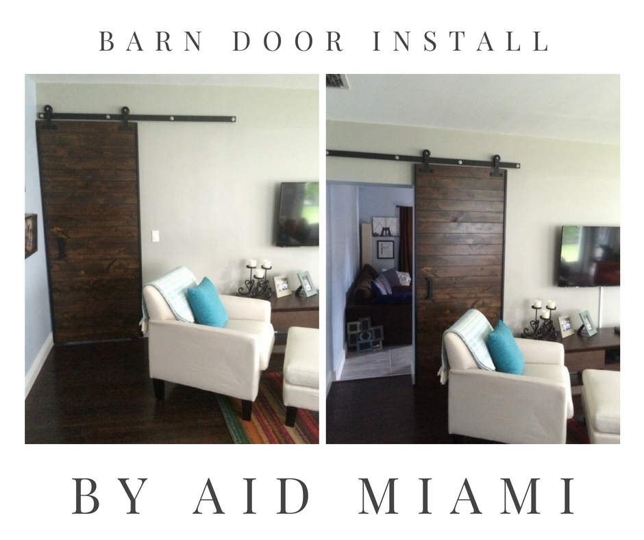 Behind The Scenes Installing Barn Doors In Miami For Our Clients