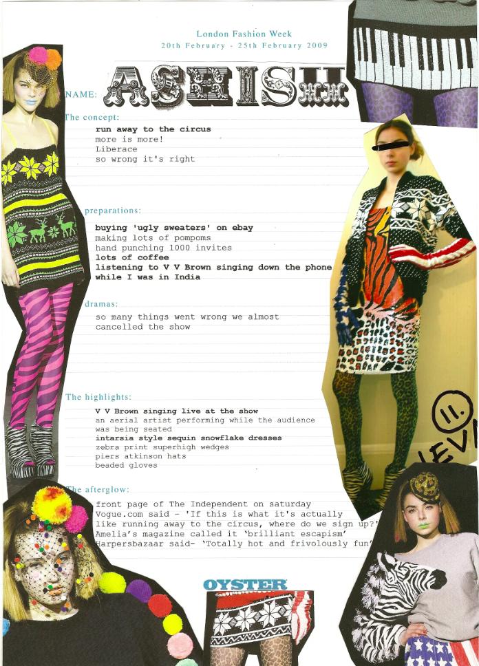 ASHISHLondon Fashion Week Diary