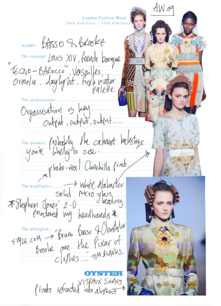 BASSO & BROOKELondon Fashion Week Diary