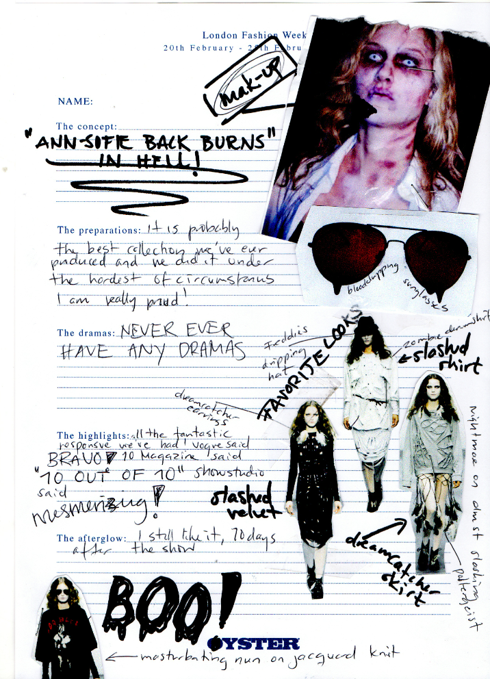 ANN-SOFIE BACKLondon Fashion Week Diary