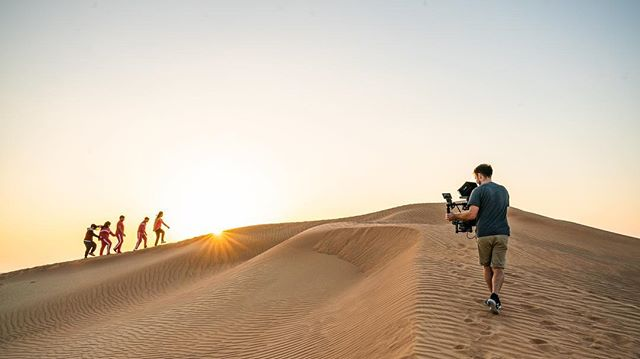 BTS  Thanks to the crew for all their efforts @we_create_experiences  #filmmaking #lovewhatyoudo #desert #uae #shotonred #rdcc #goodcrew 📷 @owentootill