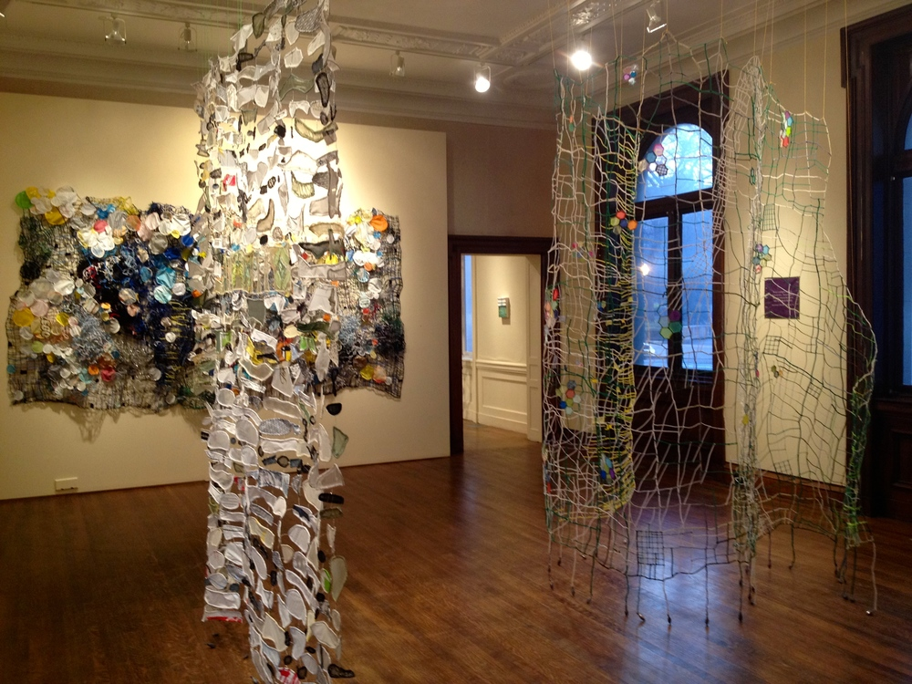 "caroline lathan-stiefel's ""greenhouse mix"" installation at the Philadelphia Art Alliance"