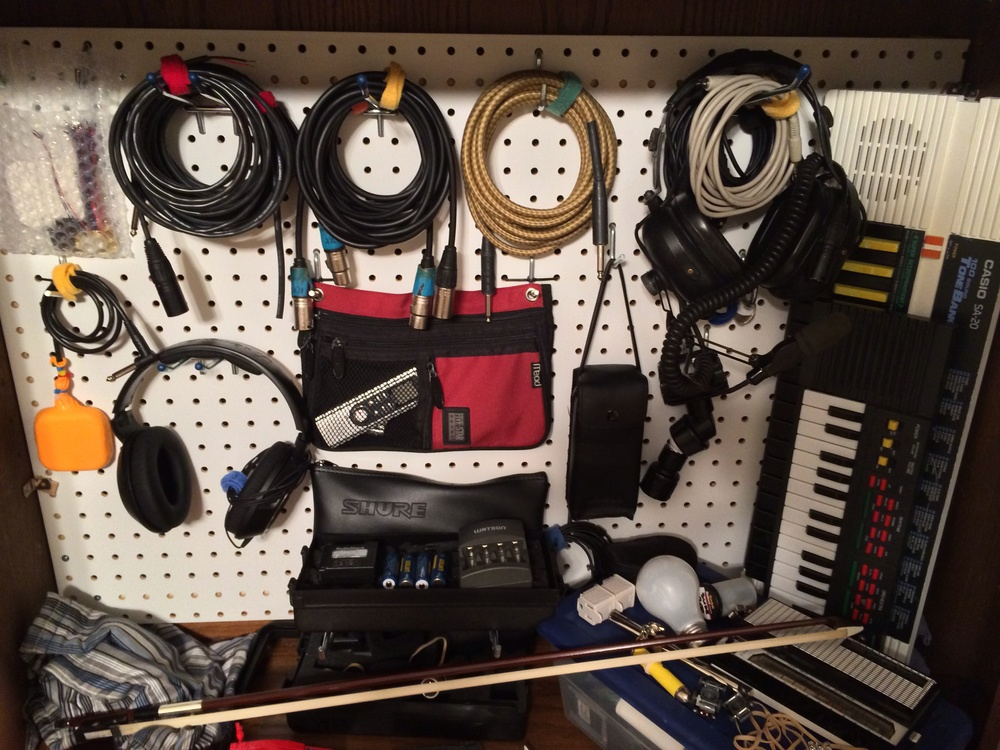 a little side project from January: DIY gear pegboard!