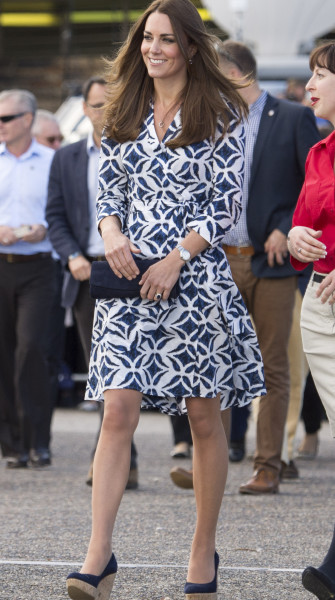 Dvf Pattern Wrap Dress Kate Middleton Kate Middleton