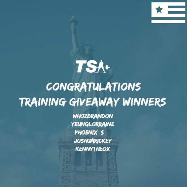 A big congratulations to our July 4th training giveaway winners! @whozbrandon, @yeunglorraine, @phoenix_s__, @joshuarickey, and @kennytheox! You will all be contacted by your designated coach to organize your training cycle. Thanks to all who participated! #teamtsa