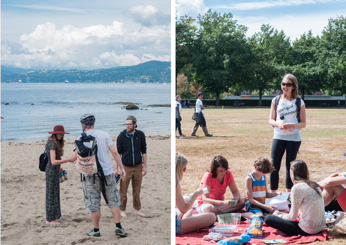 Gifting art at the Ride-Out at Stanley Park last year!
