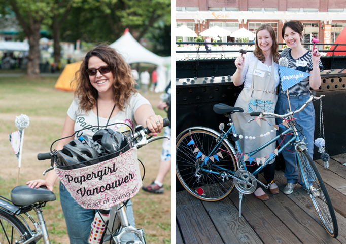 All around awesome ladies! Papergirl Vancouver co-founders Michele Mateus & Eryne Donahue, and 2014 Team Leader Tara Galuska.