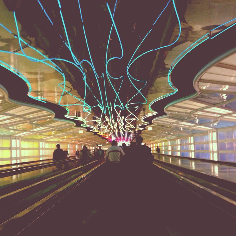Terminal Tunnel, Chicago O' Hare Airport. Photo by Shannen Garza.