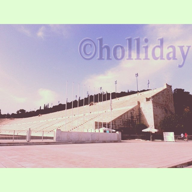The Panathenaic Stadium, Athens, Greece. Photo by Rachael Holliday.