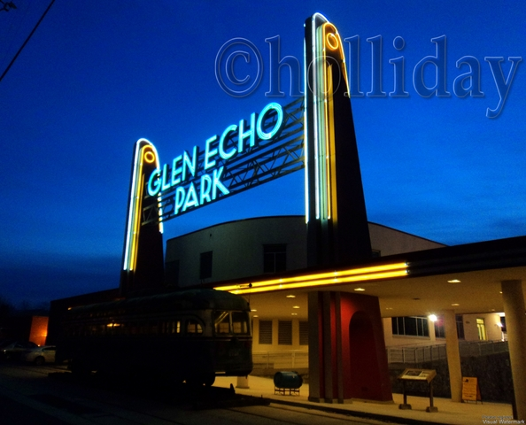 If you are visiting Washington D.C., take time to visit the hidden gem of Glen Echo Park, which lies just a few miles northwest of the city. The park began its life as a learning center in 1891, and was turned into an amusement park in the early 1900's. It closed in 1968, and was purchased by the National Park Service in 1971. Through the work of the NPS and local non-profit arts organizations, Glen Echo has been turned into a unique art community.  It offers numerous classes in the visual and performance art, artist studios, children's theater, summer concerts and exhibits, all housed in the wonderful Art Deco amusement park buildings.  The beauty of the architecture mixed with the vibrant art scene makes for a heady experience. Photo by Rachael Holliday.