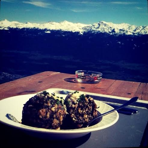 Photo shared today during the  #passionpassport  Twitter chat! This week we discussed travel cuisine. Photo taken from a cafe in the surrounding mountains of Innsbruck, Austria. Photo by Shannen Garza.