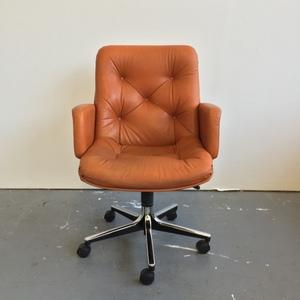 norwegian vintage office chair. Vintage Norwegian Leather Chair Office R