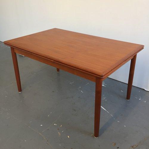 Vintage Danish Modern Teak Draw Leaf Dining Table Far Out Finds - Danish modern dining table with leaves