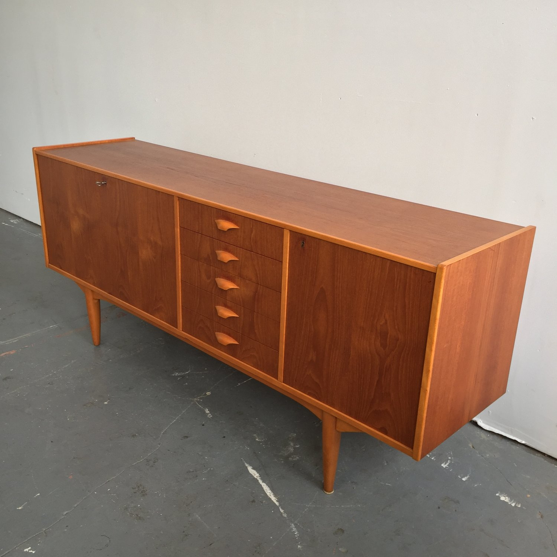 Vintage Danish Modern Teak SideboardCredenza
