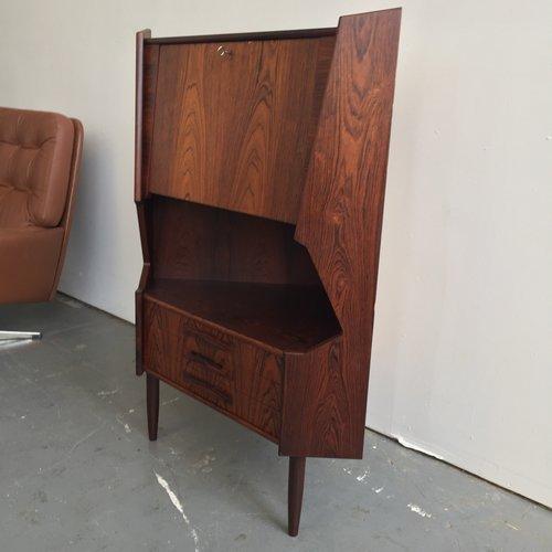 Vintage Danish Modern Rosewood Corner Cabinet