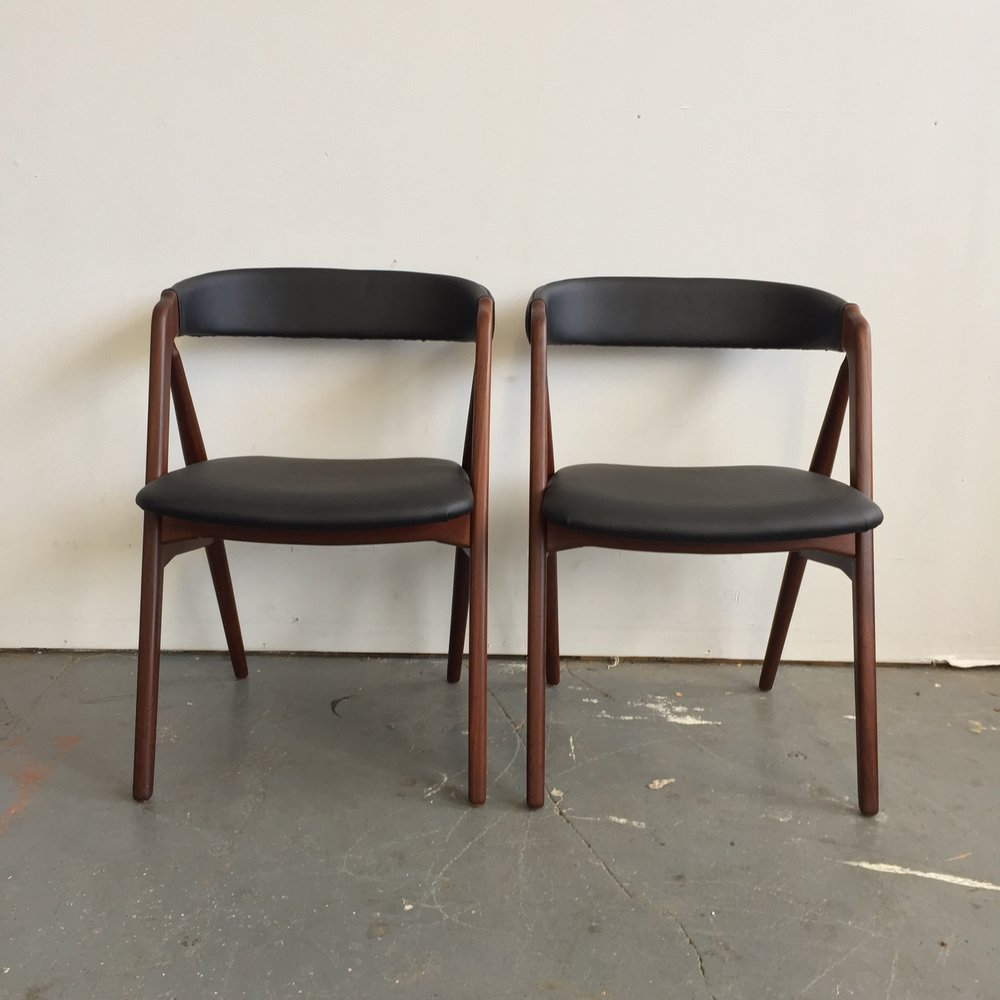 Pair of Vintage Danish Modern Farstrup Dining Chairs Far Out