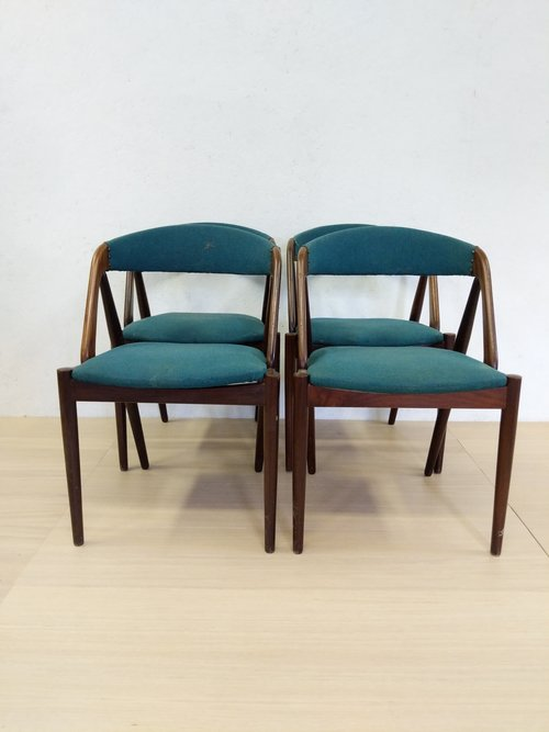 91d853e41fac Set of 4 Vintage Danish Modern Kai Kristiansen Dining Chairs — Far ...