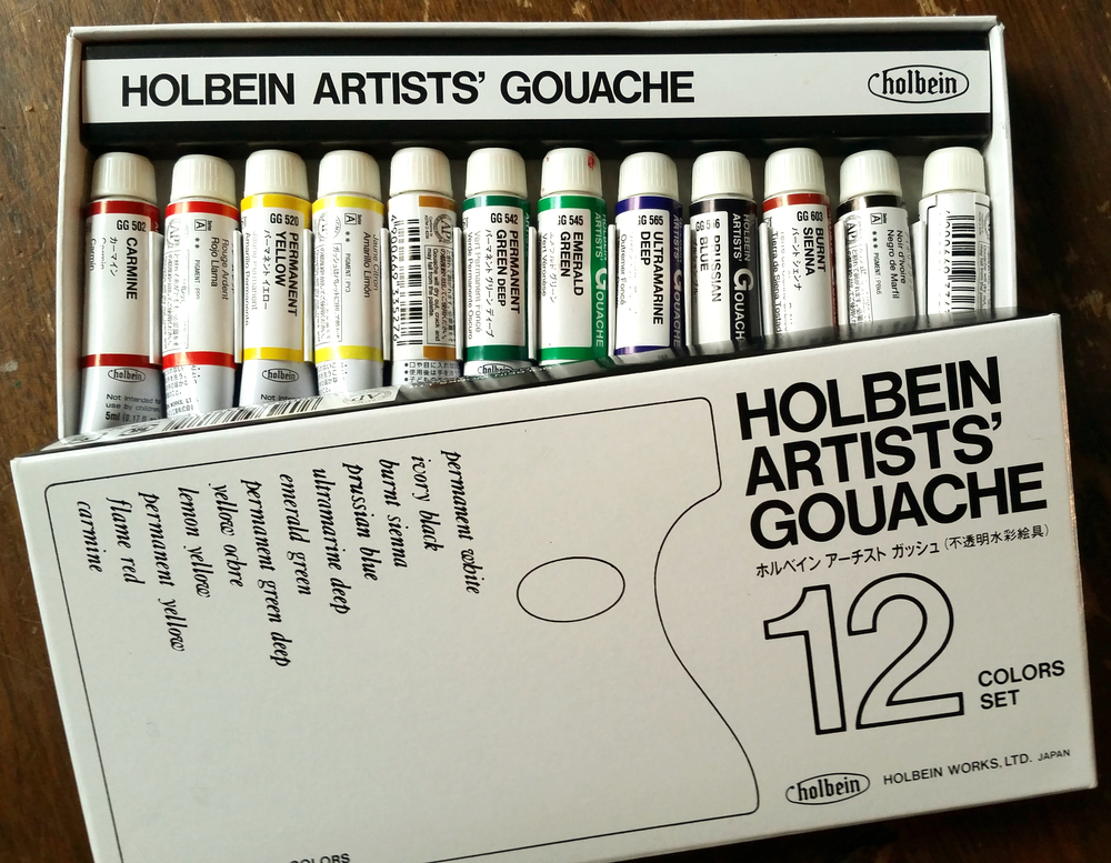 I asked for gouache paints because after reading about them in Natalie Goldberg's Living Colorbook I also kept seeing them listed in the art supplies by master artists.