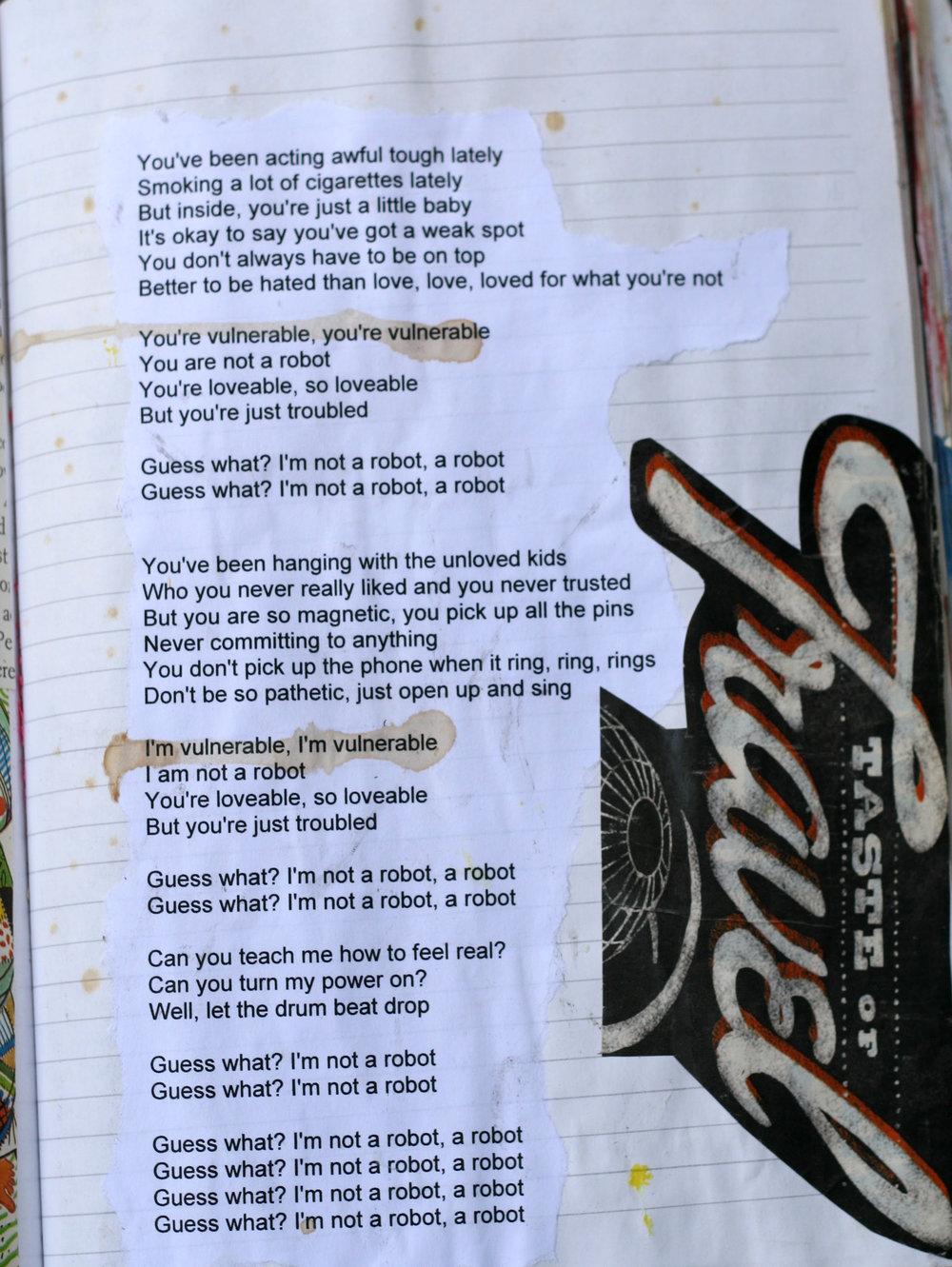 I'm Not A Robot song lyrics by Marina and the Diamons