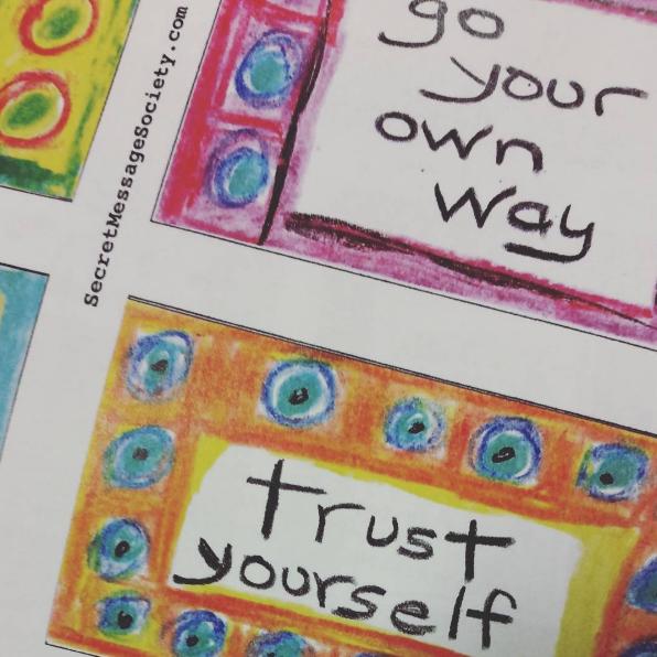 Secret Messages by Member Deb Taylor.