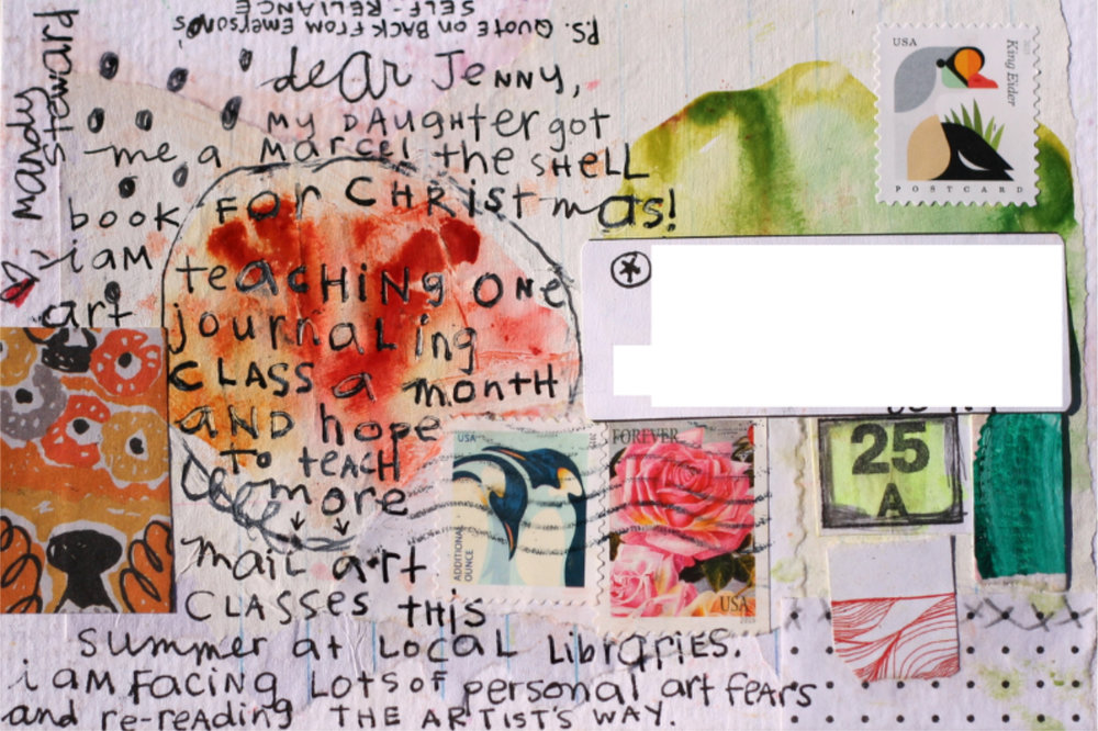 I do get to teach a mail art class this summer at several of my local libraries. I am really looking forward to this adventure!