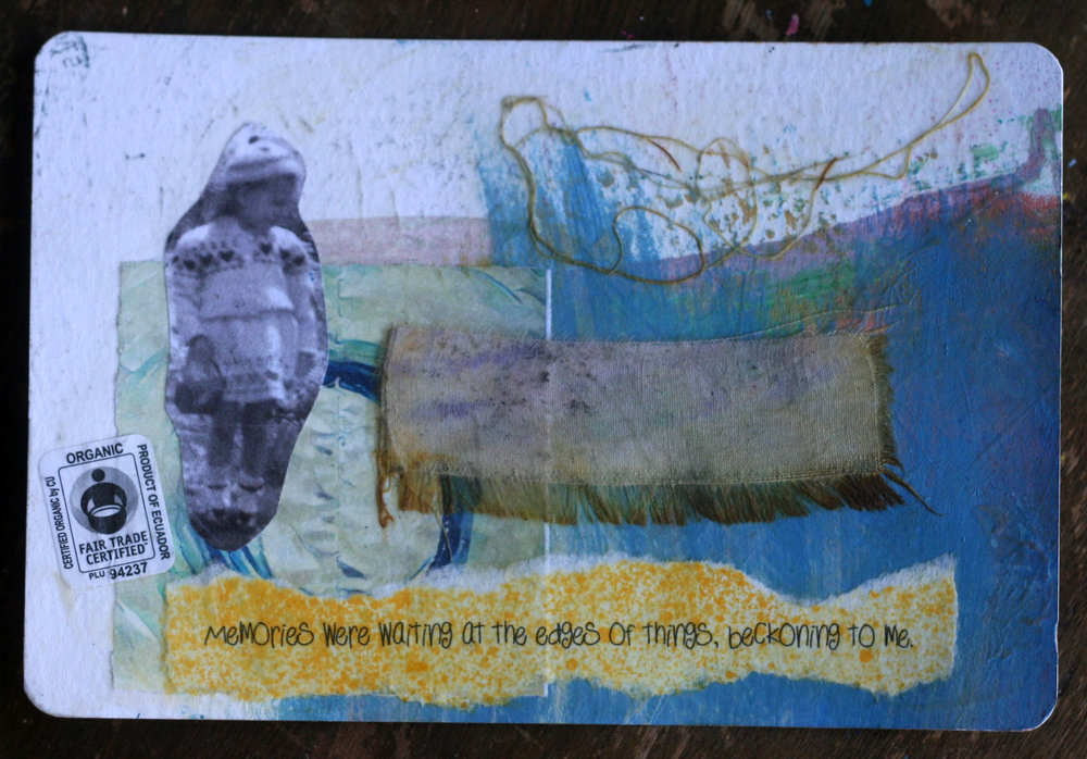 Side one of the postcard Dawn sent me.