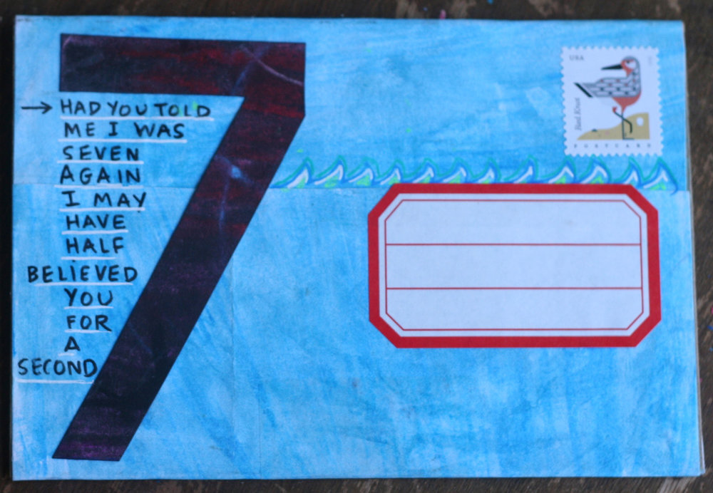 Side two of the postcard I sent Dawn.