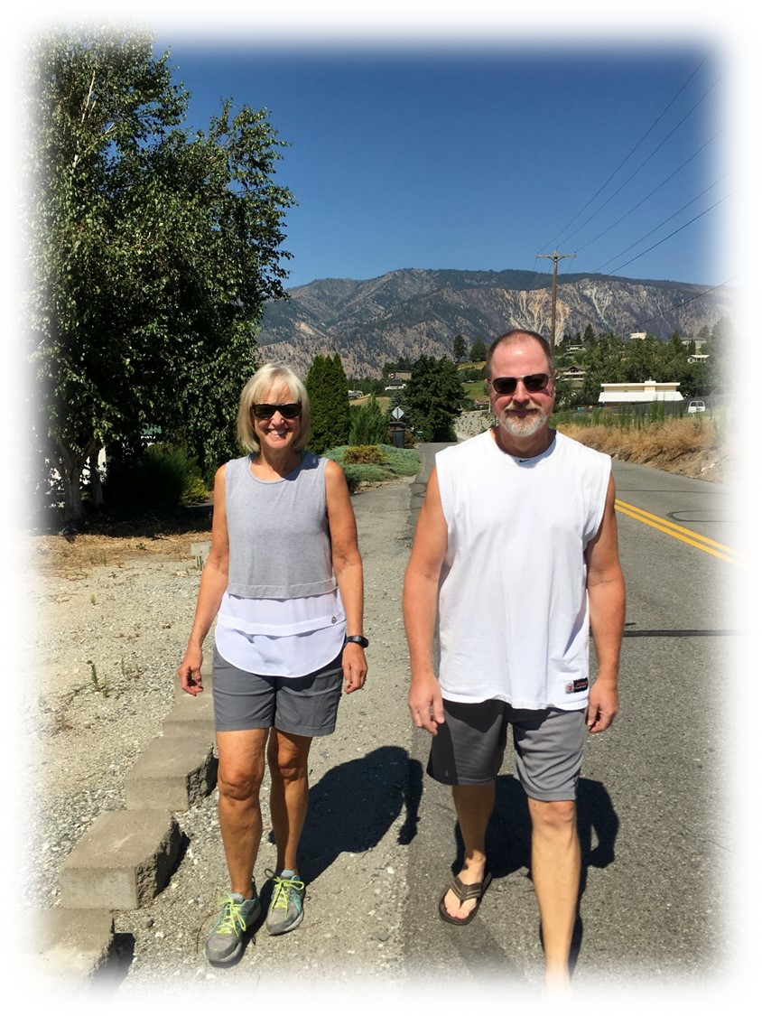 Rich and Marlene on their morning walk