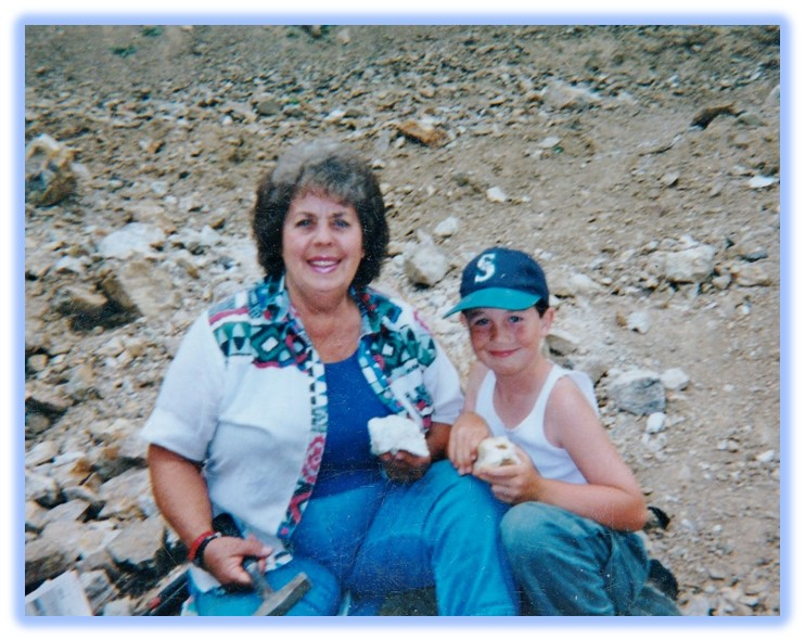 Maureen with grandson Bryce who is now in college.